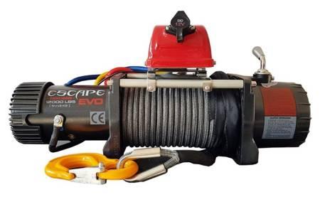 Wyciągarka Escape EVO 12000 lbs [5443 kg] EWX-S z liną syntetyczną 12V (lina: 10 mm szara dyneema 25m 8500kg +hak zdejmowany) 81877739