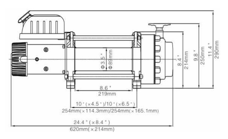 Wyciągarka Escape EVO 17500 lbs [7938kg] 12V (lina stalowa: 12mm×26.5m) 81877712