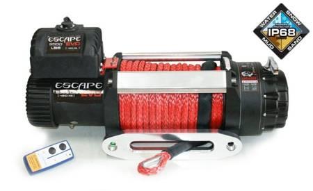 Wyciągarka Escape EVO 9500 lbs [4309 kg] IP68 z liną syntetyczną 12V (lina: 10 mm w oplocie 28 m 10400 kg +hak) 81877771