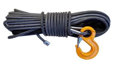 Wyciągarka XTR 13500lbs [6130kg] z liną syntetyczną 12V (lina: 10 mm w oplocie 28m 10400 kg +hak) 81877817