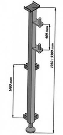 Wysoki maszt do wciągarki budowlanej 08176789