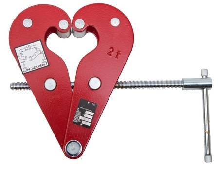 Zawiesia klamrowe -sworzeń (max szerokość belki: 300 mm, udźwig: 5 T) 22077049
